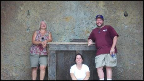 Me, Anne, and Dawn on the stage of the Lost Colony Playhouse in Manteo, NC